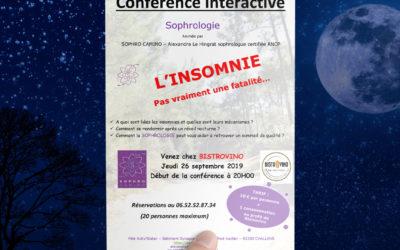 Conférence interactive sur l'insomnie